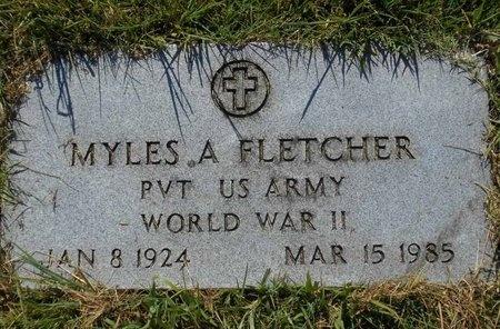 FLETCHER, MYLES A (VETERAN WWII) - McDonald County, Missouri   MYLES A (VETERAN WWII) FLETCHER - Missouri Gravestone Photos