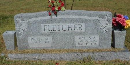 FLETCHER, MYLES A. - McDonald County, Missouri | MYLES A. FLETCHER - Missouri Gravestone Photos