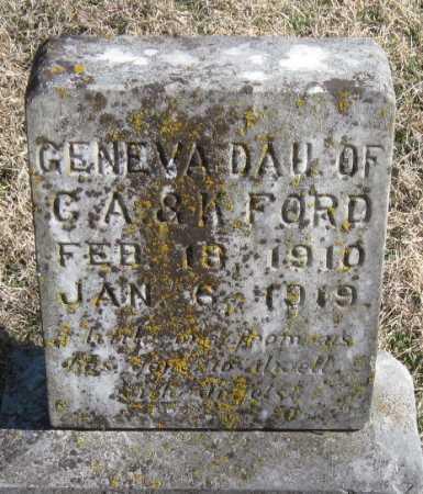 FORD, GENEVA - McDonald County, Missouri | GENEVA FORD - Missouri Gravestone Photos