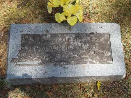 FORD, MACK B - McDonald County, Missouri | MACK B FORD - Missouri Gravestone Photos