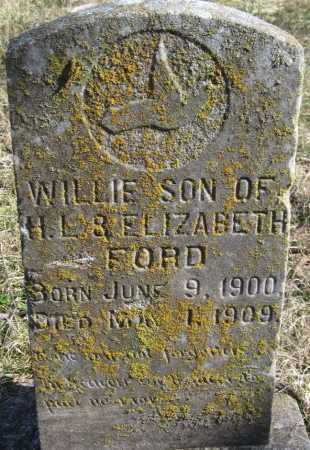 FORD, WILLIE - McDonald County, Missouri | WILLIE FORD - Missouri Gravestone Photos