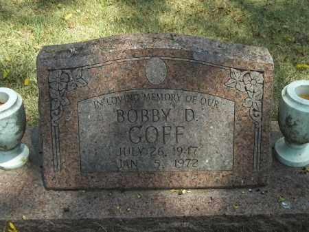 GOFF, BOBBY D - McDonald County, Missouri   BOBBY D GOFF - Missouri Gravestone Photos