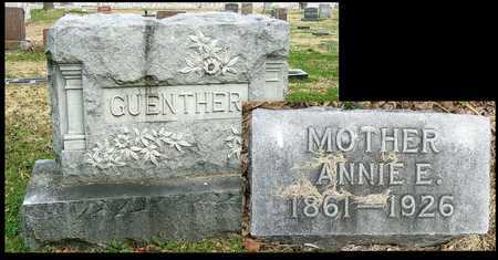 GUENTHER, ANNE E - McDonald County, Missouri   ANNE E GUENTHER - Missouri Gravestone Photos