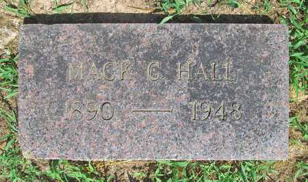 HALL, MACK G - McDonald County, Missouri   MACK G HALL - Missouri Gravestone Photos