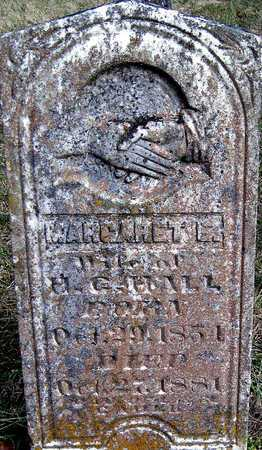 HALL, MARGARET E - McDonald County, Missouri | MARGARET E HALL - Missouri Gravestone Photos