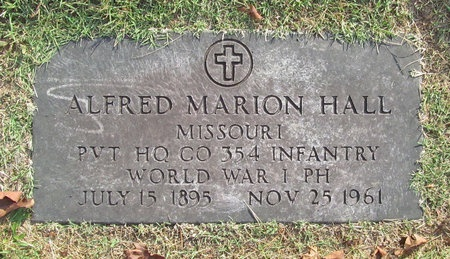 HALL, ALFRED MARION (VETERAN WWI) - McDonald County, Missouri | ALFRED MARION (VETERAN WWI) HALL - Missouri Gravestone Photos
