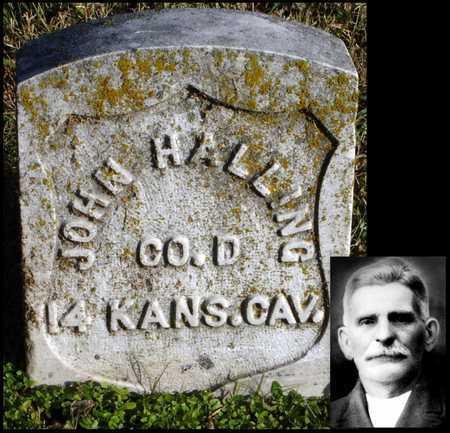 HALLING, JOHN ALBERT (VETERAN UNION) - McDonald County, Missouri | JOHN ALBERT (VETERAN UNION) HALLING - Missouri Gravestone Photos