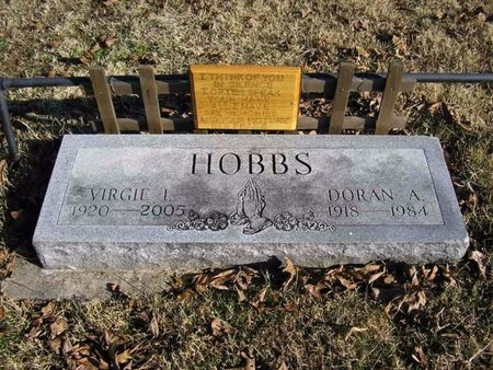 HOBBS, VIRGIE IDA - McDonald County, Missouri | VIRGIE IDA HOBBS - Missouri Gravestone Photos