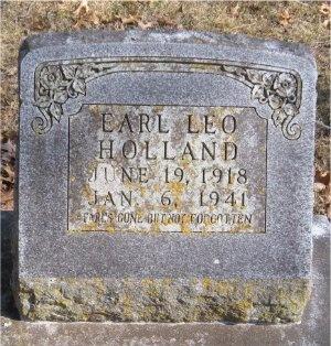 HOLLAND, EARL LEO - McDonald County, Missouri   EARL LEO HOLLAND - Missouri Gravestone Photos