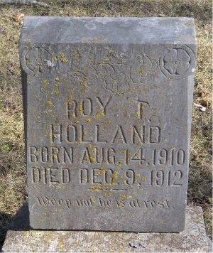 HOLLAND, ROY T - McDonald County, Missouri   ROY T HOLLAND - Missouri Gravestone Photos