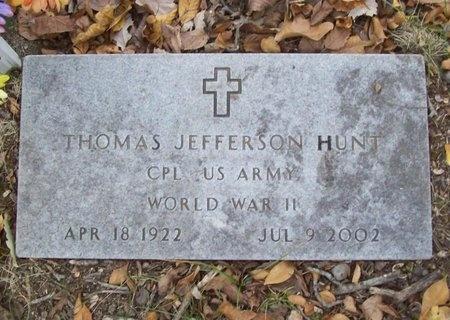 HUNT, THOMAS JEFFERSON VETERAN WWII - McDonald County, Missouri | THOMAS JEFFERSON VETERAN WWII HUNT - Missouri Gravestone Photos