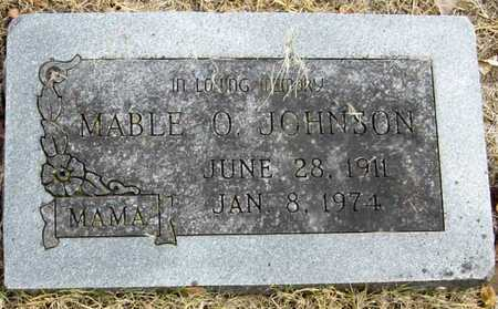 JOHNSON, MABLE OMA - McDonald County, Missouri   MABLE OMA JOHNSON - Missouri Gravestone Photos