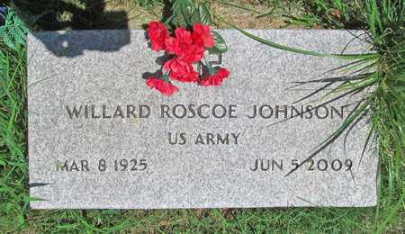 JOHNSON, WILLARD ROSCOE VETERAN - McDonald County, Missouri | WILLARD ROSCOE VETERAN JOHNSON - Missouri Gravestone Photos
