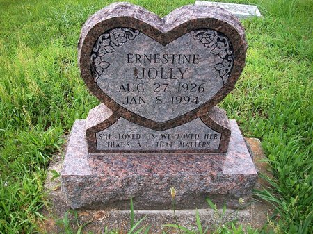 JOLLY, ERNESTINE - McDonald County, Missouri | ERNESTINE JOLLY - Missouri Gravestone Photos