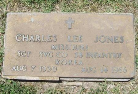 "JONES, CHARLES LEROY ""LEE"" (VETERAN KOR) - McDonald County, Missouri | CHARLES LEROY ""LEE"" (VETERAN KOR) JONES - Missouri Gravestone Photos"