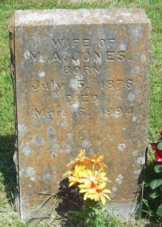 JONES, MAGGIE A. - McDonald County, Missouri | MAGGIE A. JONES - Missouri Gravestone Photos