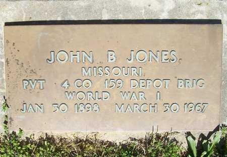 JONES, JOHN B (VETERAN WWI) - McDonald County, Missouri   JOHN B (VETERAN WWI) JONES - Missouri Gravestone Photos
