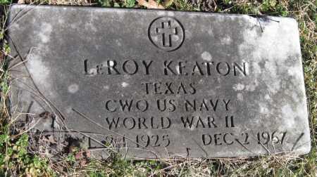 KEATON, LEROY (VETERAN WWII) - McDonald County, Missouri   LEROY (VETERAN WWII) KEATON - Missouri Gravestone Photos