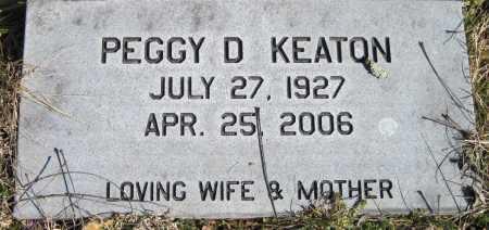 KEATON, PEGGY D - McDonald County, Missouri | PEGGY D KEATON - Missouri Gravestone Photos