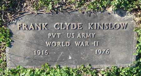 KINSLOW, FRANK CLYDE (VETERAN WWII) - McDonald County, Missouri   FRANK CLYDE (VETERAN WWII) KINSLOW - Missouri Gravestone Photos