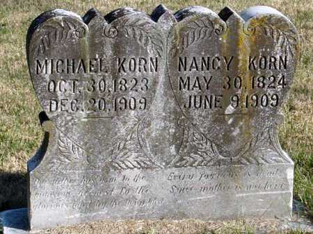 KORN, NANCY - McDonald County, Missouri | NANCY KORN - Missouri Gravestone Photos