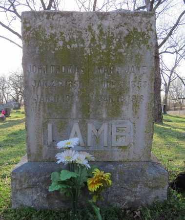 YOUNG LAMB, MARY JANE - McDonald County, Missouri   MARY JANE YOUNG LAMB - Missouri Gravestone Photos