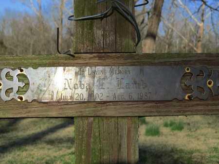 LAMB (CLOSEUP), NOBA - McDonald County, Missouri | NOBA LAMB (CLOSEUP) - Missouri Gravestone Photos
