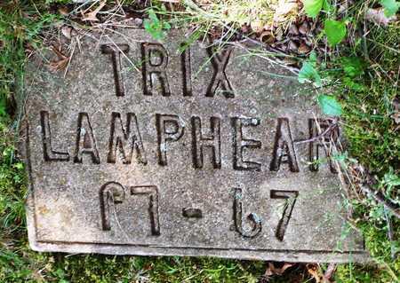 LAMPHEAR, ILA TRIX - McDonald County, Missouri | ILA TRIX LAMPHEAR - Missouri Gravestone Photos