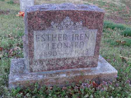 LEONARD, ESTHER IRENA - McDonald County, Missouri | ESTHER IRENA LEONARD - Missouri Gravestone Photos