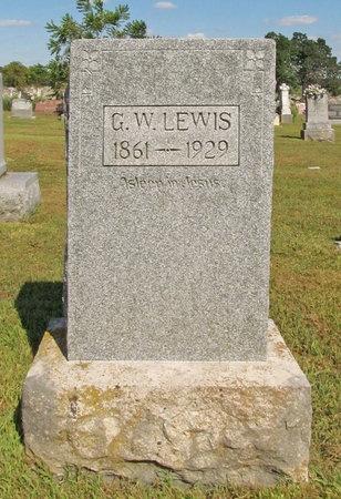 LEWIS, G W - McDonald County, Missouri | G W LEWIS - Missouri Gravestone Photos