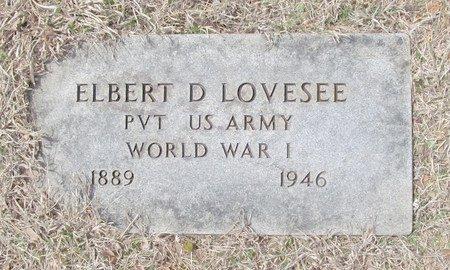 LOVESEE, ELBERT DANIEL VETERAN - McDonald County, Missouri | ELBERT DANIEL VETERAN LOVESEE - Missouri Gravestone Photos