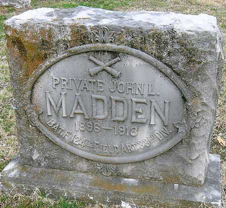 MADDEN, JOHN LUTHER (VETERAN WWI) - McDonald County, Missouri | JOHN LUTHER (VETERAN WWI) MADDEN - Missouri Gravestone Photos