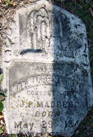 HEDGES MADDEN, MARY ELIZA JANE - McDonald County, Missouri | MARY ELIZA JANE HEDGES MADDEN - Missouri Gravestone Photos