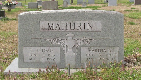 "MAHURIN, CLOVIS J ""TOAD"" - McDonald County, Missouri   CLOVIS J ""TOAD"" MAHURIN - Missouri Gravestone Photos"