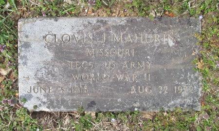 MAHURIN, CLOVIS J VETERAN WWII - McDonald County, Missouri | CLOVIS J VETERAN WWII MAHURIN - Missouri Gravestone Photos