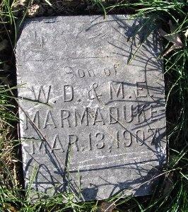 MARMADUKE, INFANT SON - McDonald County, Missouri | INFANT SON MARMADUKE - Missouri Gravestone Photos