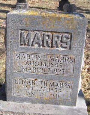 MARRS, ELIZABETH - McDonald County, Missouri | ELIZABETH MARRS - Missouri Gravestone Photos