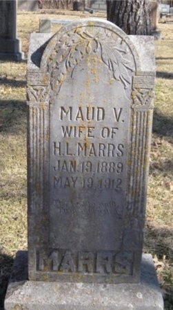 MARRS, MAUD V - McDonald County, Missouri   MAUD V MARRS - Missouri Gravestone Photos
