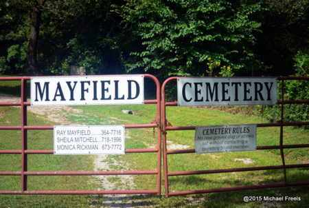 *, MAYFIELD CEMETERY SIGN & GATE - McDonald County, Missouri | MAYFIELD CEMETERY SIGN & GATE * - Missouri Gravestone Photos