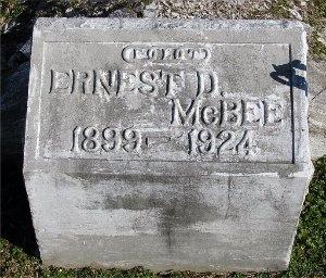 MCBEE, ERNEST D. - McDonald County, Missouri | ERNEST D. MCBEE - Missouri Gravestone Photos