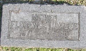 MCBEE, FLORENCE L. - McDonald County, Missouri | FLORENCE L. MCBEE - Missouri Gravestone Photos
