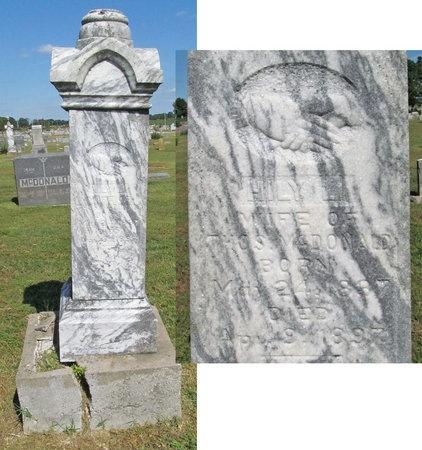 CARTER MCDONALD, HILY L - McDonald County, Missouri | HILY L CARTER MCDONALD - Missouri Gravestone Photos