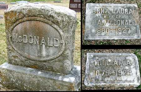 MCDONALD, ANNA LAURA - McDonald County, Missouri | ANNA LAURA MCDONALD - Missouri Gravestone Photos