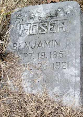 MOSER, BENJAMIN FRANKLIN - McDonald County, Missouri   BENJAMIN FRANKLIN MOSER - Missouri Gravestone Photos