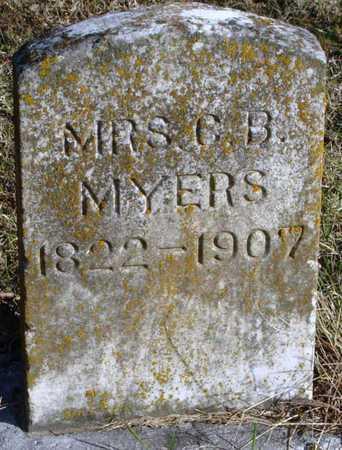MYERS, CHRISTIANA B - McDonald County, Missouri | CHRISTIANA B MYERS - Missouri Gravestone Photos