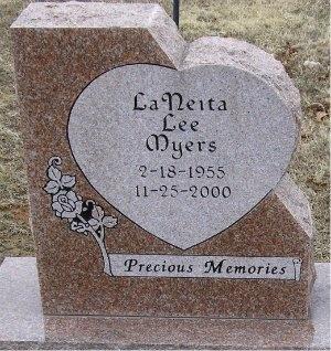 MYERS, LANEITA LEE - McDonald County, Missouri   LANEITA LEE MYERS - Missouri Gravestone Photos