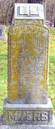 MYERS, PETER E - McDonald County, Missouri   PETER E MYERS - Missouri Gravestone Photos