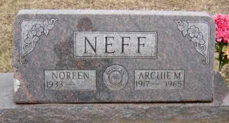 NEFF, ARCHIE MERLE - McDonald County, Missouri   ARCHIE MERLE NEFF - Missouri Gravestone Photos