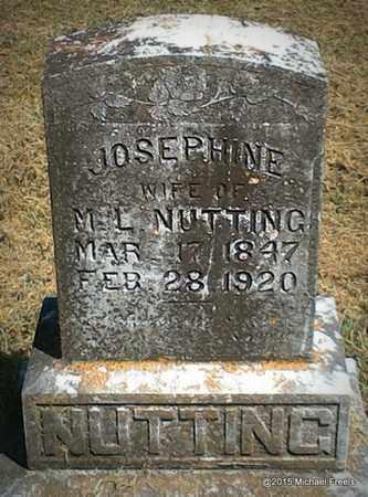 RABY NUTTING, JOSEPHINE - McDonald County, Missouri | JOSEPHINE RABY NUTTING - Missouri Gravestone Photos