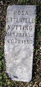 NUTTING, ROSA ETTABELLE - McDonald County, Missouri | ROSA ETTABELLE NUTTING - Missouri Gravestone Photos
